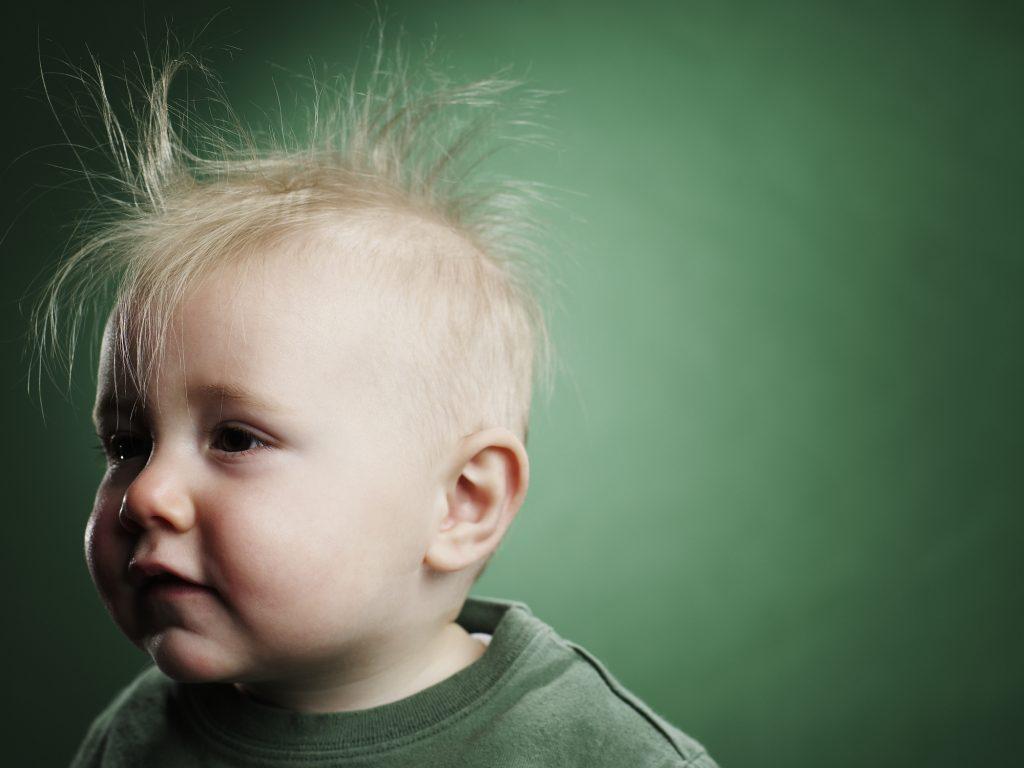 الشعر الخفيف عند الاطفال