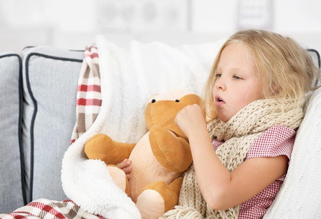طرق علاج الكحة او السعال عند الاطفال بالاعشاب