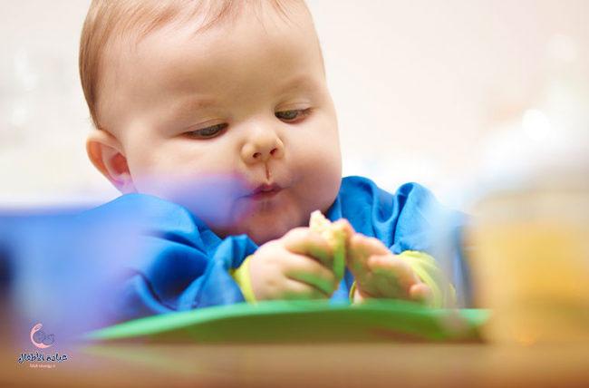 بداية الاكل عند الاطفال الرضع